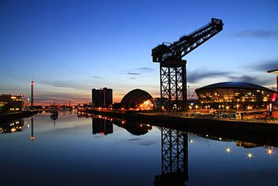 skip hire Glasgow Finnieston crane